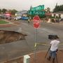 Sinkhole swallows vehicle in west El Paso