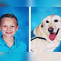 8-year-old boy and his service dog take viral yearbook photos