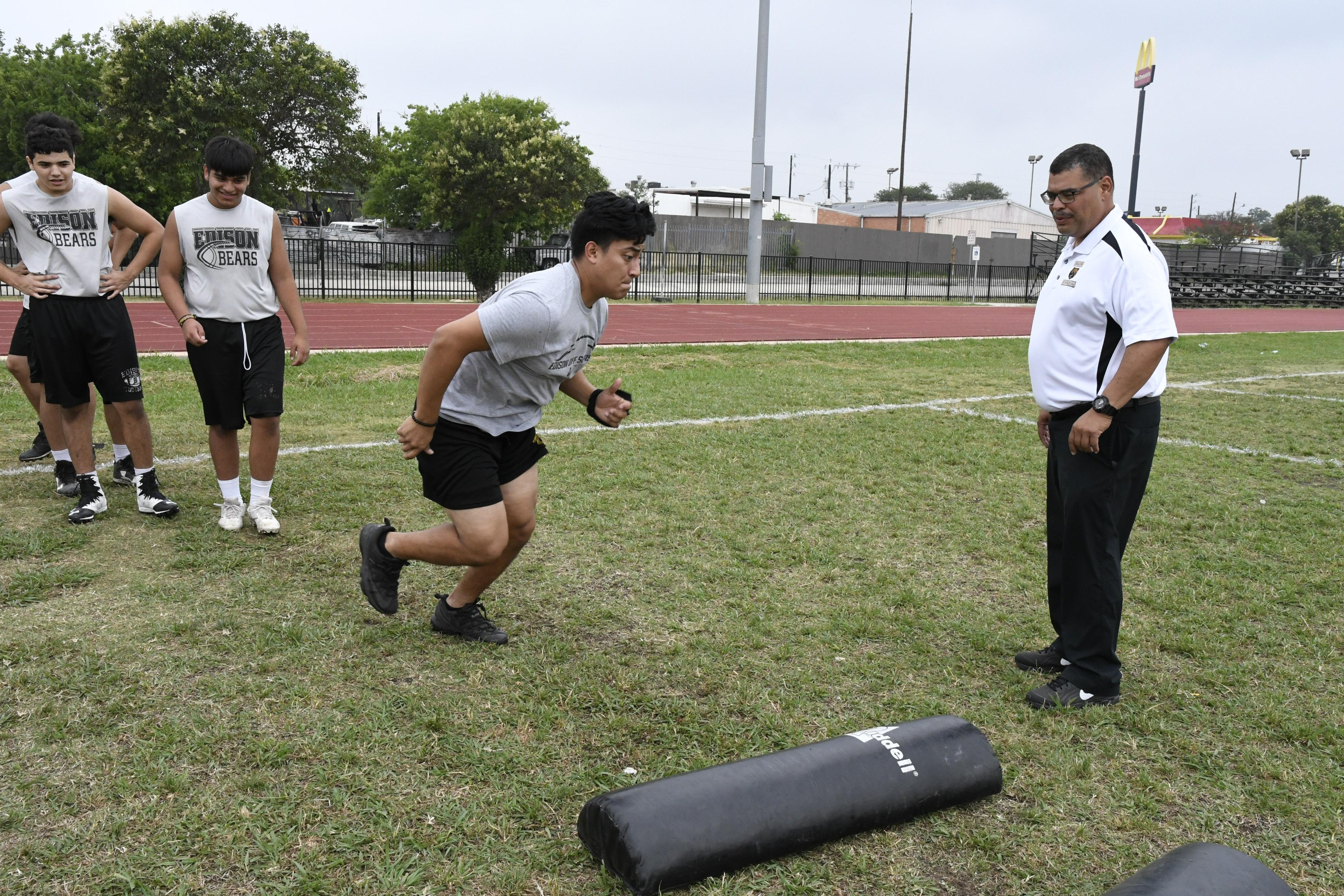 Jesse Monreal named new head football coach at Edison High School (Photos provided by San Antonio Independent School District)