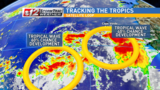 Tracking two tropical waves in the Atlantic