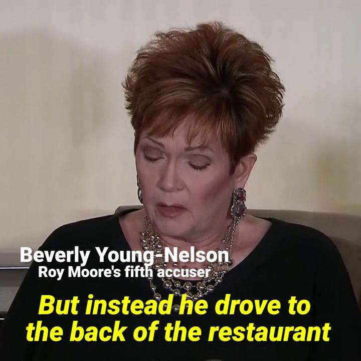 Beverly Young-Nelson says Roy Moore sexually assaulted her.Thumbnail