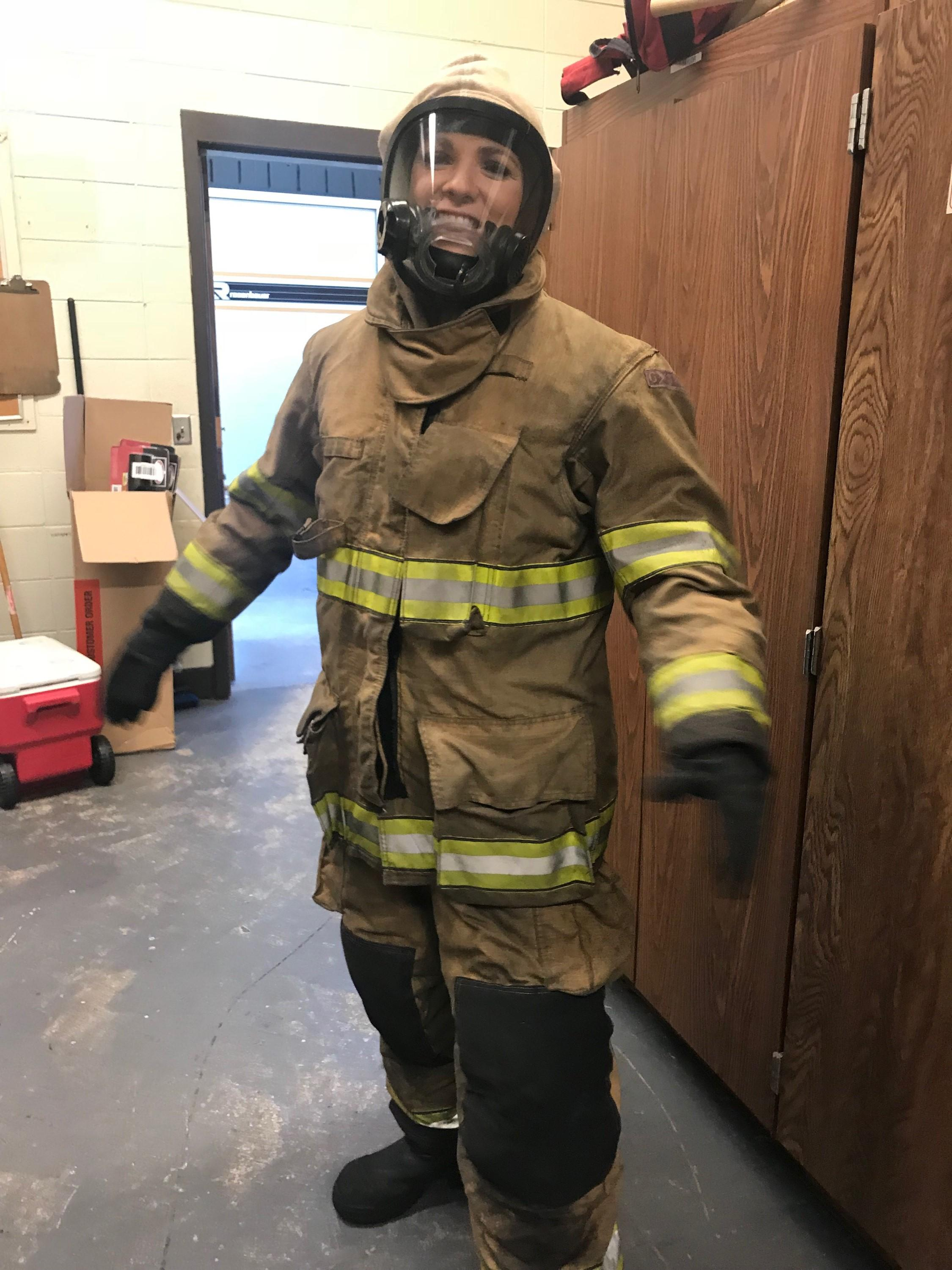 WGXA got an inside look Friday at firefighter training at the Georgia Public Safety Training Center in Forsyth/Claudia Coco (WGXA)