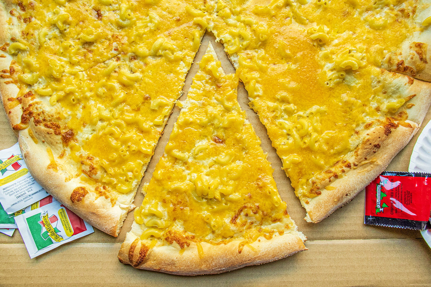 From late-night parties to conference rooms, Ian's Pizza is a popular spot for cheesy, XL pies and pizza-by-the-slice. Known for unusual toppings and quality local ingredients, their best-seller Mac n' Cheese pizza is always a crowd-pleaser.{ }(Image: Rachael Jones / Seattle Refined)