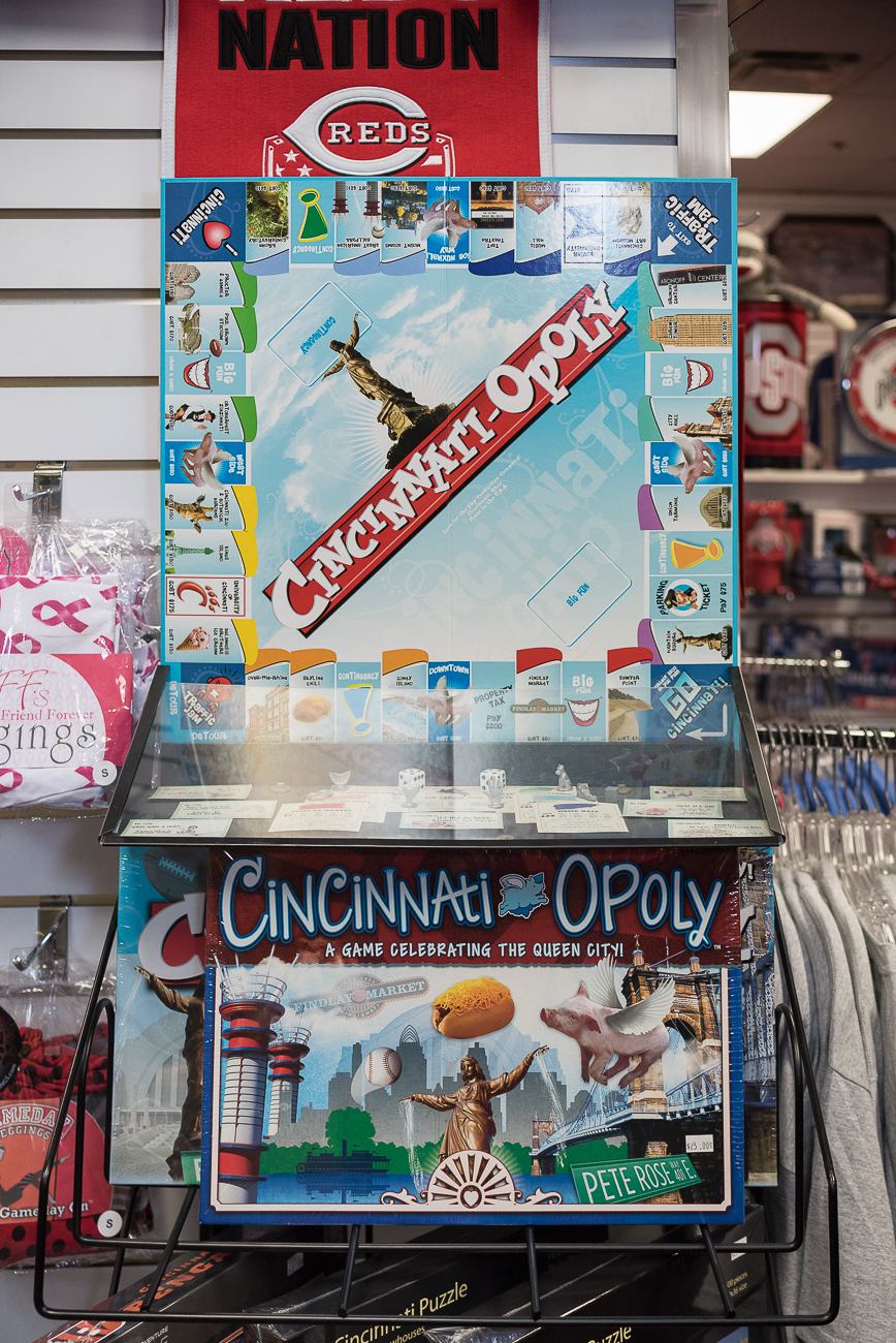 The I Love Cincinnati Shop has Queen City-related merchandise for both the enthusiastic native and visitor alike. From shirts and hats to trinkets and framed photos, the shop will have something for everybody who wants to take home a little piece of Cincinnati. ADDRESS: 441 Vine St., Suite 2E, Cincinnati, OH 45202 (second floor of the Carew Tower mall) / Image: Phil Armstrong, Cincinnati Refined // Published: 1.29.18