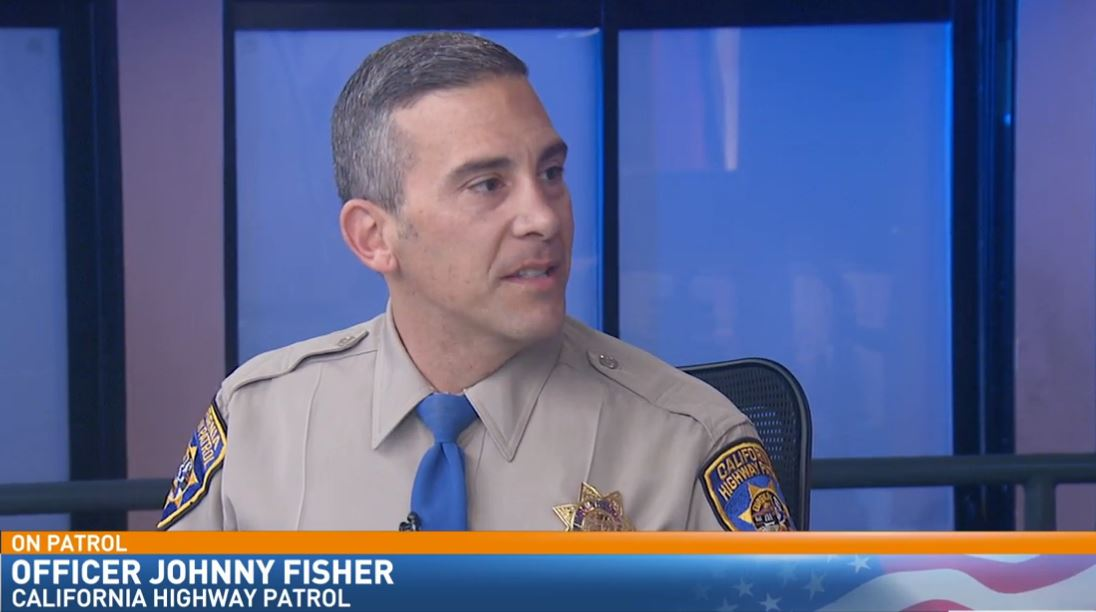 CHP Officer Johnny Fisher visited Great Day one last time