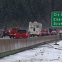 Snow, crashes strand drivers on Snoqualmie Pass