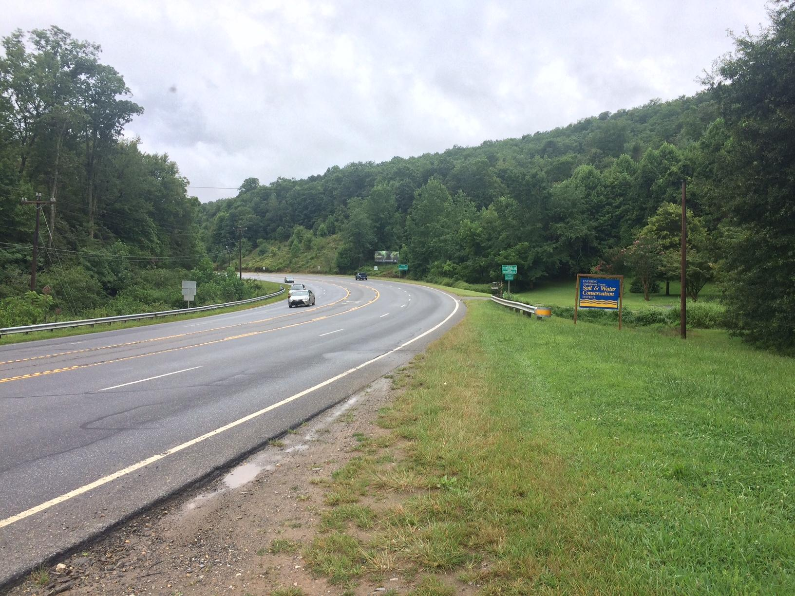 The trail would begin at Westfeldt Park in Mills River, not far from the Asheville Airport, and eventually stretch 15 miles to Brevard, intersecting with the entrance to Pisgah Forest. It would be for walking, running, and biking. (Photo credit: WLOS staff)