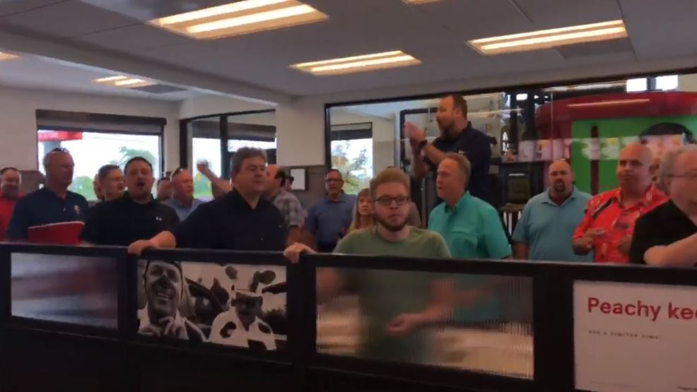 VIRAL VIDEO: Acappella group breaks out impromptu sing-a-long at Tennessee Chick-fil-A