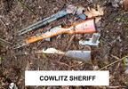 Guns found in the woods - Cowlitz County Sheriff's Office photo.jpg