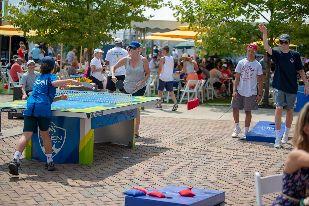 Ping pong and cornhole{&nbsp;}/ Image: Chris Jenco // Published: 8.14.18<p></p>