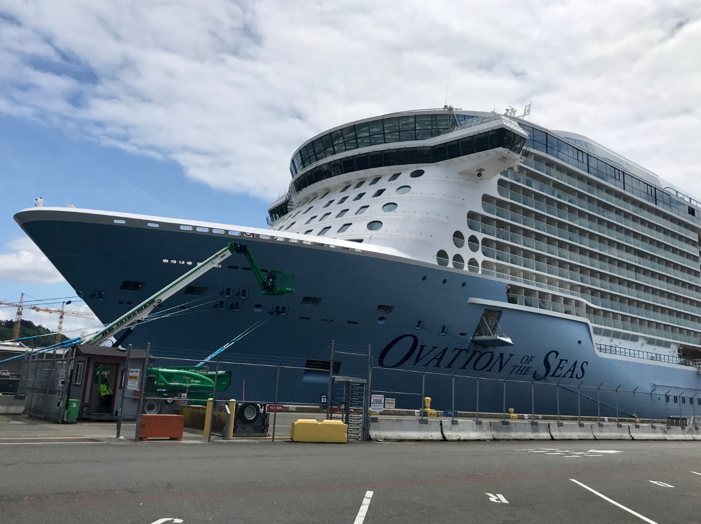 It's the first-ever Alaska season for Ovation of the Seas - a Royal Caribbean cruise ship that's the largest to ever be homeported on the West Coast! The ship is 136 feet wide, 1,138 feet long, and cruises at a speed of 22 knots. With 18 decks, 16 guest elevators, 20+ dining options, iFly Indoor Skydiving, a robot-operated Bionic Bar, Music Hall, Bumper Cars, and a mini shopping mall - you've likely never been on a ship quite like this one. Taking off once again for a 7-Night Alaska Glacier Cruise on June 14, 2019 - the ship will be back throughout the summer, and again in 2020 for another Alaska season.  (Image: Seattle Refined)
