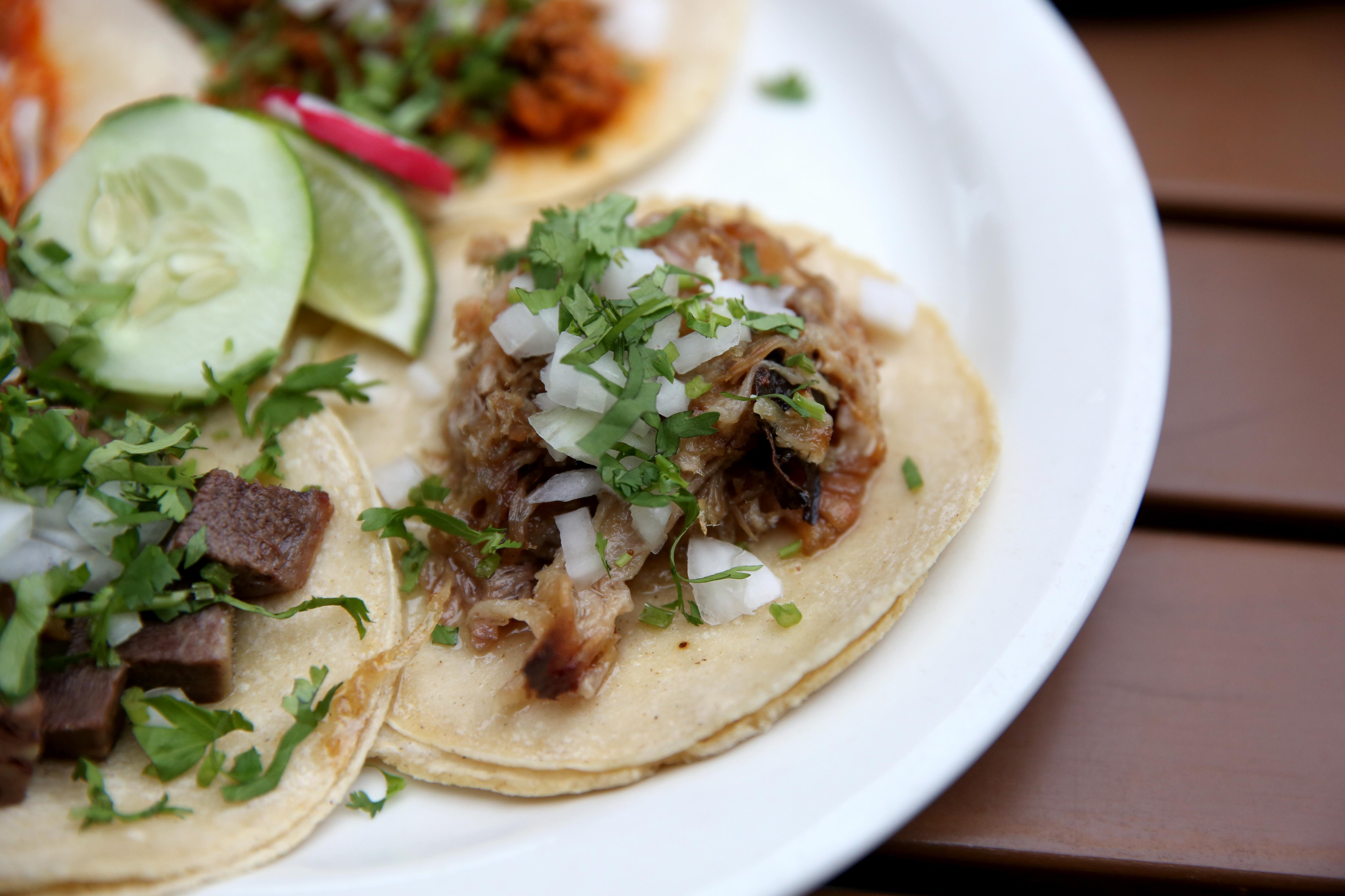 Carnitas should be a little greasy and these ones hit the mark. The pork melts a little in your mouth and it goes great with any of the salsas on the table. (Amanda Andrade-Rhoades/DC Refined)