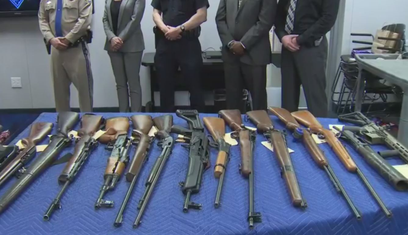 Some of the weapons confiscated by the gang and gun operation<p></p>