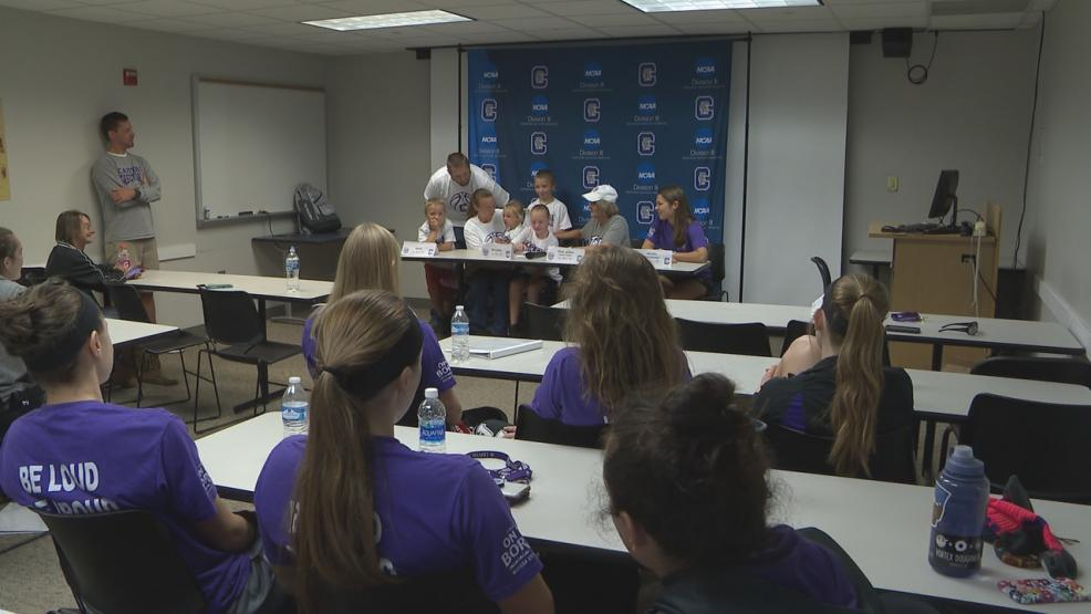 Mercadize Paver, an 11-year-old from Marysville with cystic fibrosis,was officially drafted by the Capital University women's basketball team during a news conference on Sunday afternoon. (WSYX/WTTE)