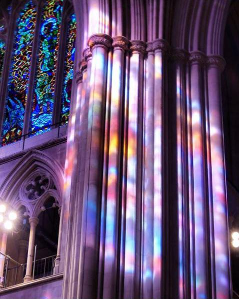 There's nothing like National Cathedral when the sun hits the windows just right. (Image via @finickymuse)<p></p>