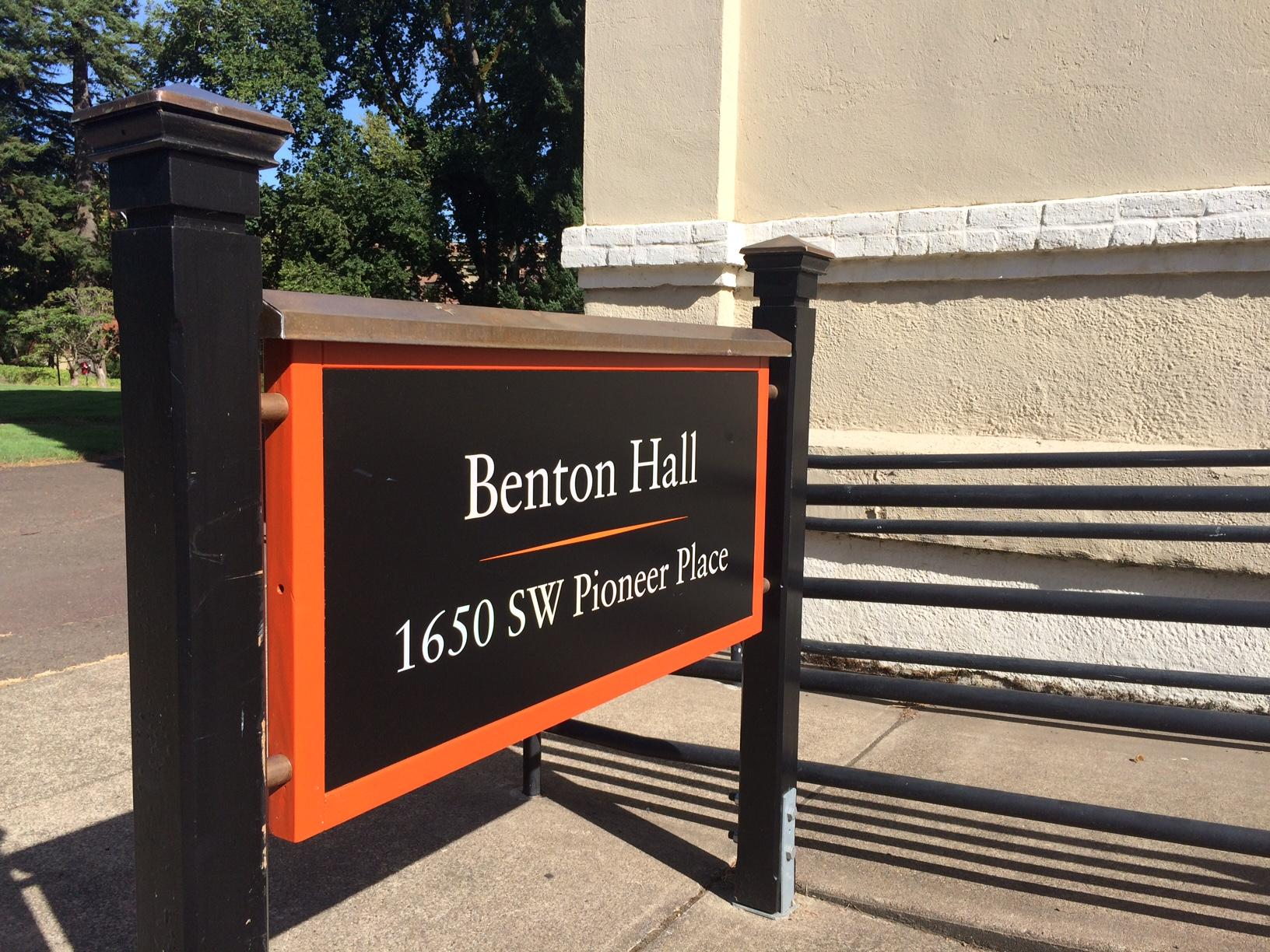 &quot;The university sought to honor the residents of Benton County in 1947 by naming OSU's first building, Benton Hall,&quot; OSU President Ed Ray writes. &quot;History shows that members of the community remarkably raised a significant amount of funds for the construction of the building in January 1887. This same community has since supported the university and its mission. In contrast, according to the scholar's report and naming review process, the name of this building does not seek to honor former Missouri U.S. Sen. Thomas Hart Benton, who in the 1820's through the 1850's, was a national architect of westward expansion and promoter of Manifest Destiny, and for whom Benton County is named. During that era, Benton supported federal legislation to remove Native Americans from their tribal lands and, while he was opposed to extending slavery into western states, he was not in favor of abolishing slavery elsewhere. The current name of the building does not make this distinction clear.&quot;<p></p>