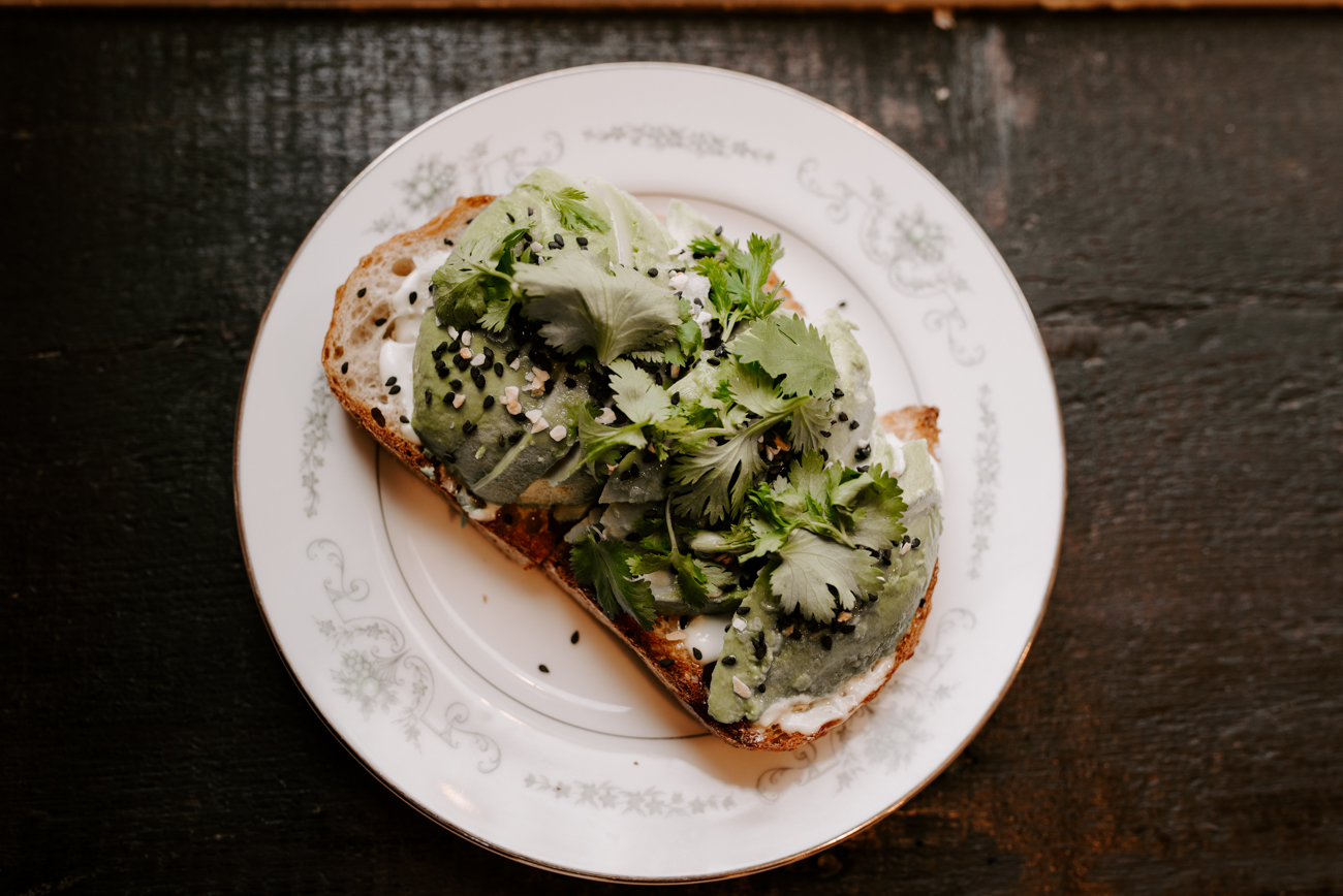 The Avocado Toastie on Allez Bread with garlic aioli, lemon, flake salt, and cilantro. / Image: Brianna Long // Published: 6.10.19