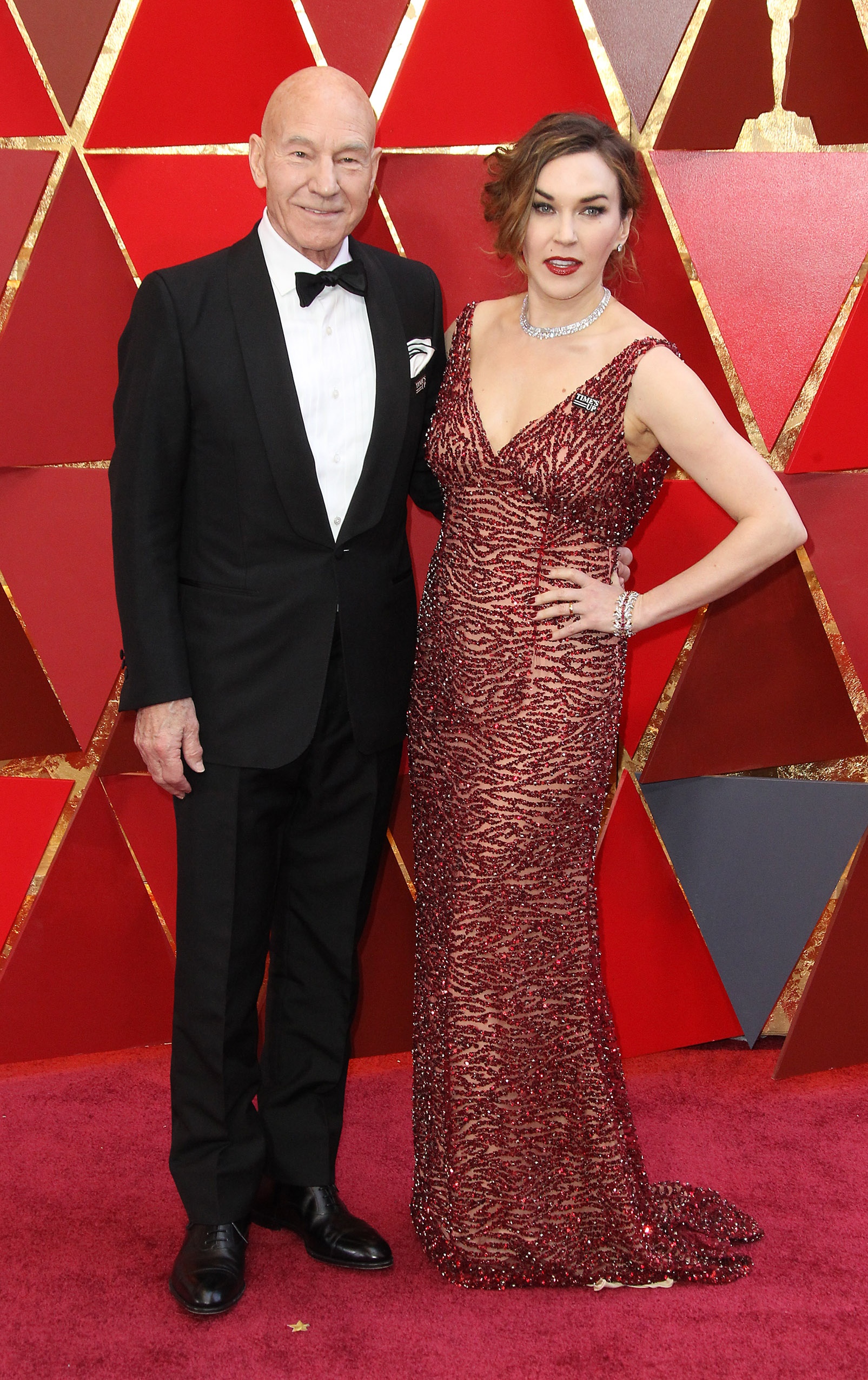 Patrick Stewart and Sunny Ozell{&amp;nbsp;}arrive at the 90th Annual Academy Awards (Oscars) held at the Dolby Theater in Hollywood, California. (Image: Adriana M. Barraza/WENN.com)<p></p>