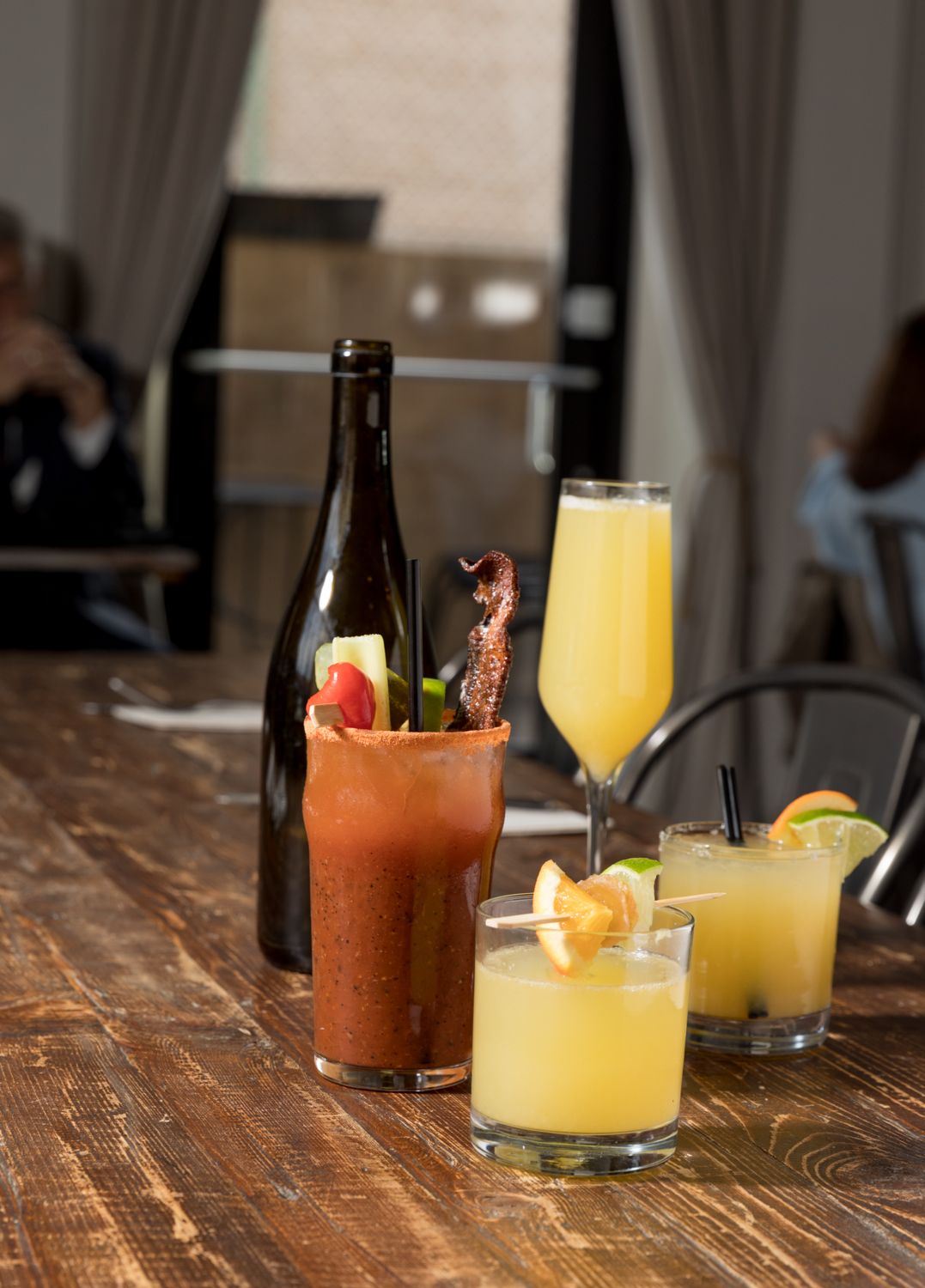 Classic Bloody Mary, mimosa, margarita, and grapefruit mimosa / Image: Marlene Rounds // Published: 1.6.19