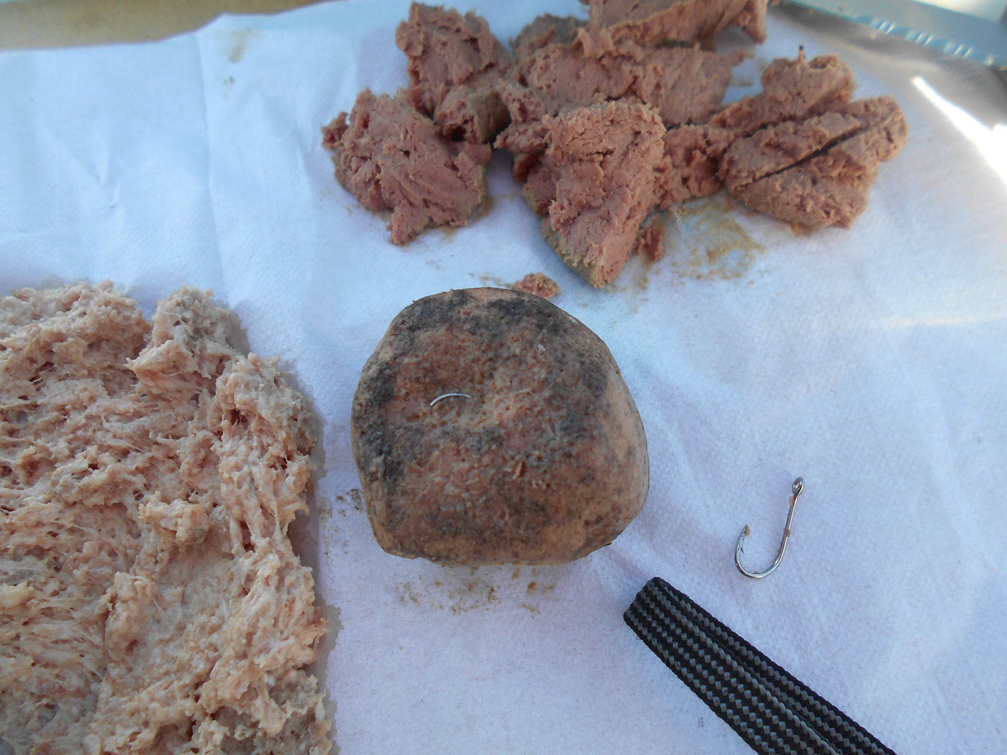 A Volusia County deputy found a meatball with small fish hooks at a local dog park. Photo courtesy the Volusia County Sheriff's Office.{&amp;nbsp;}<p></p>