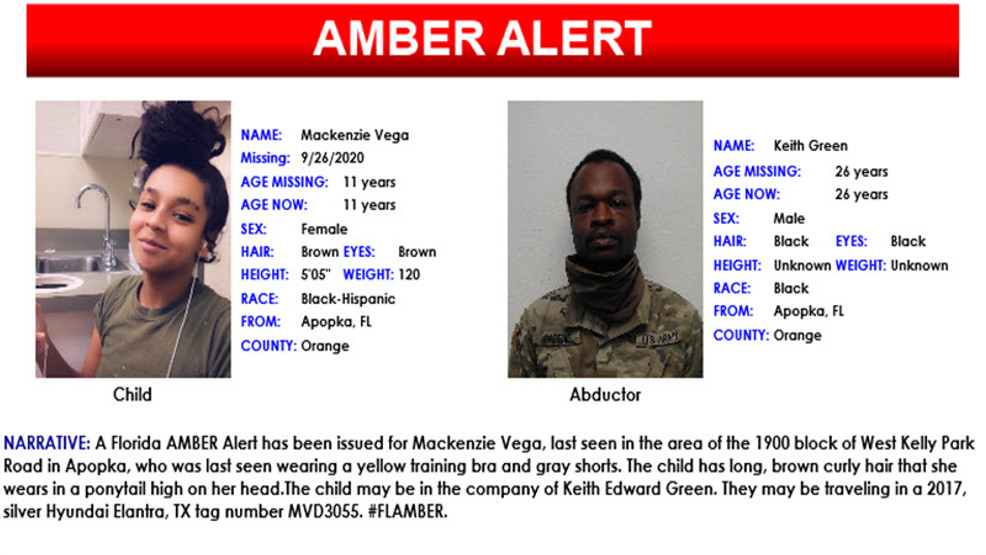 11 Year Old Subject Of Amber Alert Found Safe Wtvx