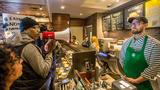 Protesters at Starbucks chant company is 'anti-black'