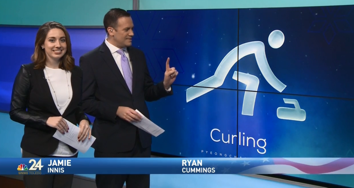 Jamie Innis and Ryan Cummings discuss Meteorologist Kimberly Newman's attempt at curling (WNWO)<p></p>