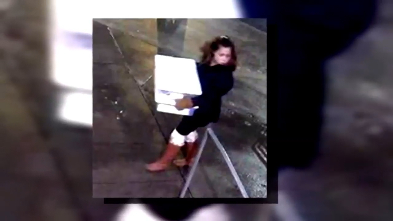 Surveillance video shows a woman suspected of stealing jewelry from an artist at Pike Place Market (Provided to KOMO News)