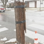 Telephone pole held together with duct tape replaced amid concerns