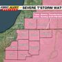 WSBT 22 FIRST ALERT WEATHER: Severe T'storm Watch in effect