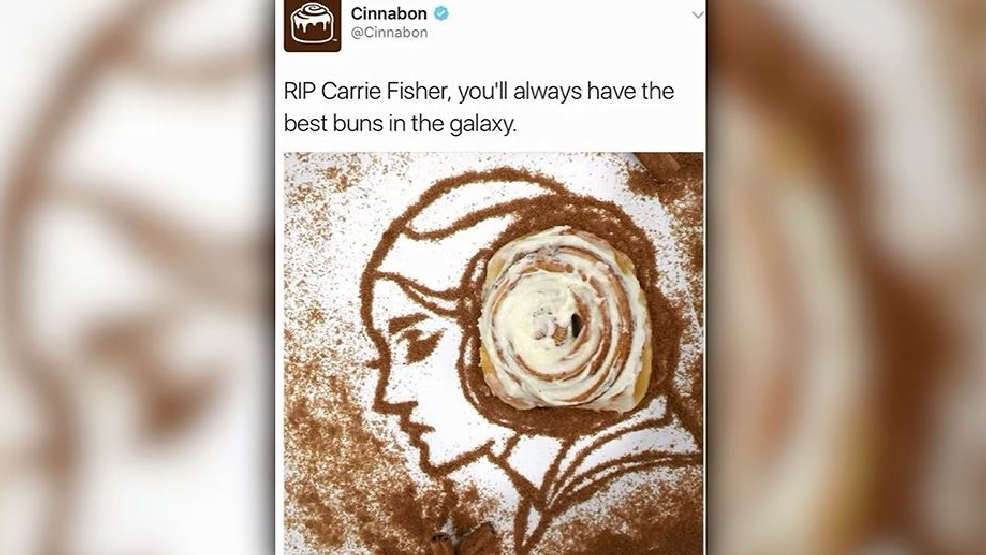 Cinnabon apologizes for tweeting Carrie Fisher has 'best buns in the galaxy'
