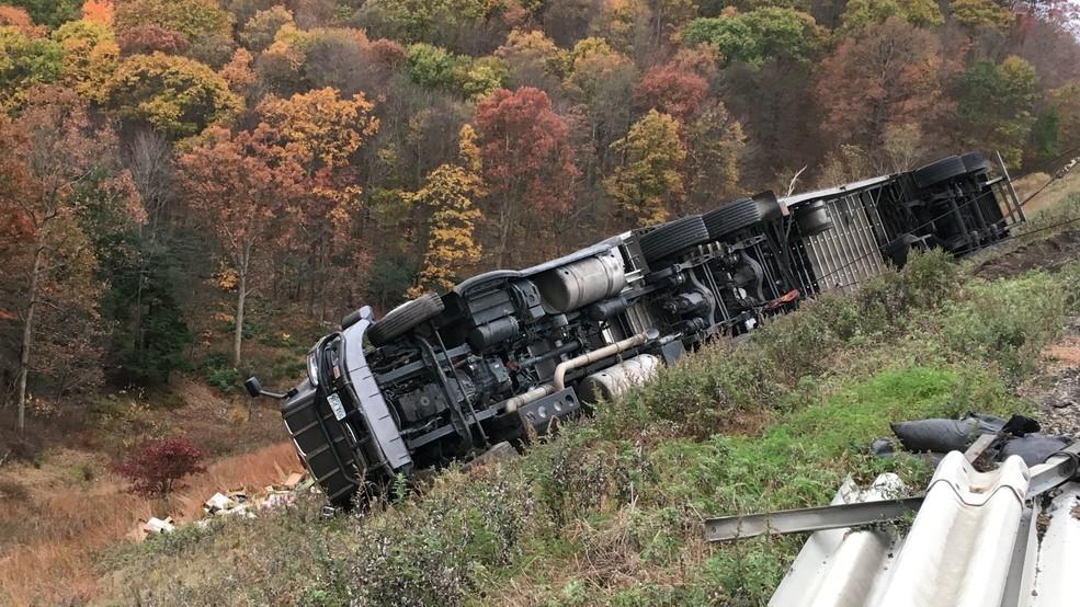 Tractor-trailer crash on I-80 causes traffic back-ups | WJAC