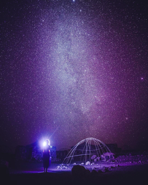 IMAGE: IG user @haomood / POST: the brightest star in the night.. #starynight #milkyway #djibouti
