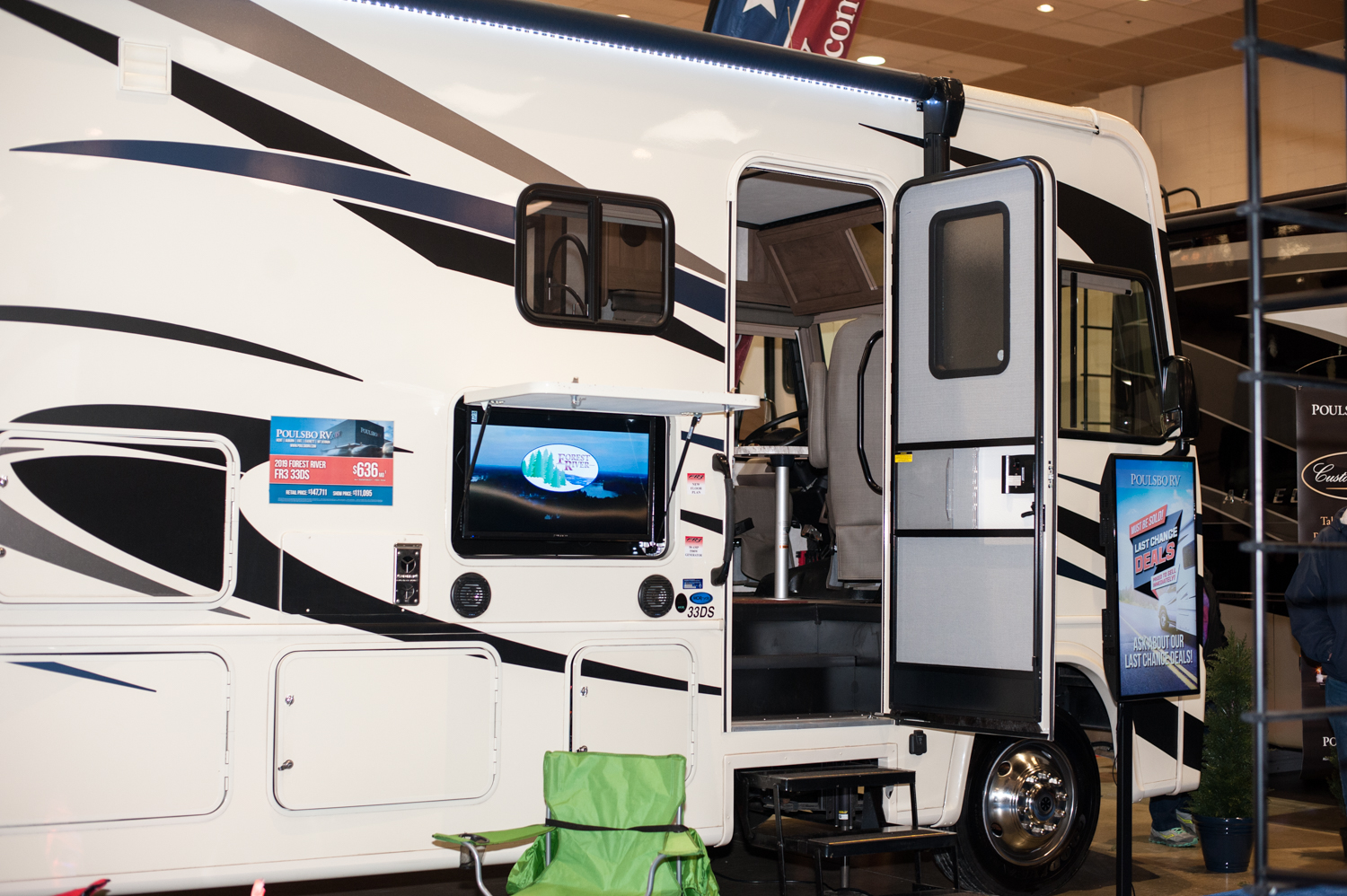 $147,711 - Poulsbo RV's 2019 Forest River FR3 33DS. The Tacoma RV Show is happening this weekend (Jan. 17-20) at the Tacoma Dome, with hundreds of RV's on display and more than 100 brands at the show. Since we are Seattle 'Refined' - you know we had to check out the most expensive, swankiest vehicles at the show! (Image: Elizabeth Crook / Seattle Refined)
