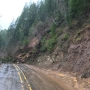 Mapleton-Junction City Hwy blocked by landslide west of Triangle Lake