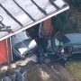Eyewitness says person hurt after driver slams into Bellevue home