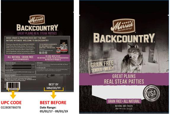 Merrick recalls beef dog treats. (Image: FDA)