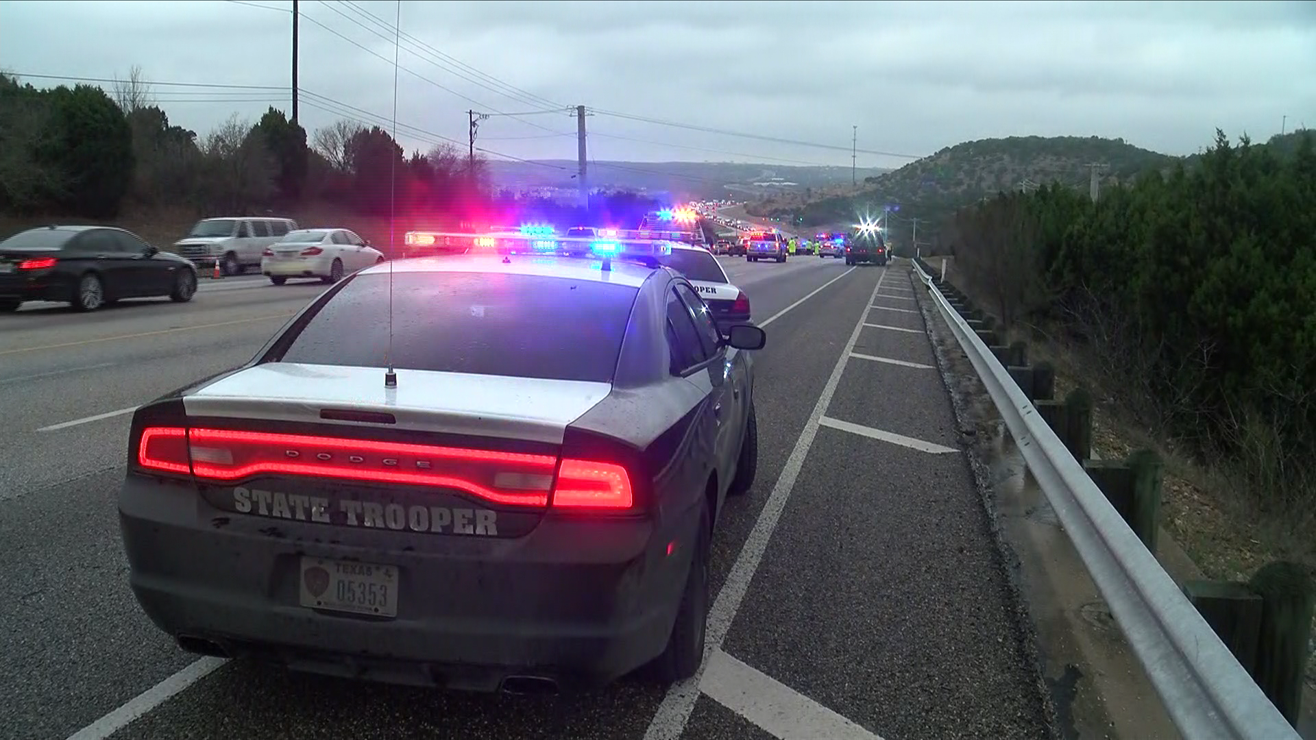 A man is dead and three others are injured after a two-vehicle crash Tuesday afternoon in west Travis County, EMS officials say. (CBS Austin)