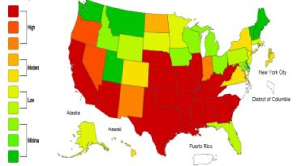 Happy Flu Year Southern Nevada Cases Triple Over Last Year KSNV - Flu In The Us Map