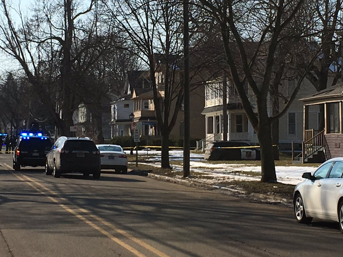 Homicide suspect arrested after hour-long standoff, schools locked down. (WWMT/Sam Knef)