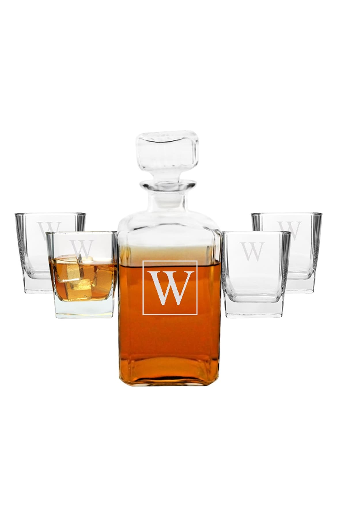 <p>Keep it classy with this Monogram Five-Piece Decanter Set.{&nbsp;} On sale for $56.28.{&nbsp;} {&nbsp;}This set includes a handsome 34-oz. (Image: Nordstrom)</p><p></p>