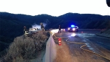 Driver OK after nasty crash on Bogus Basin Road