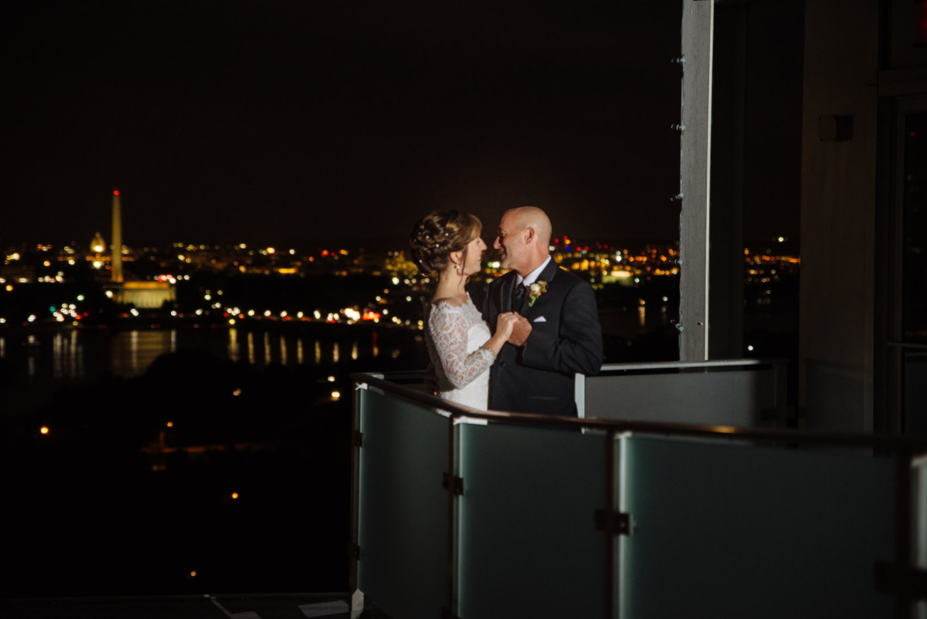 Bride: Sheila // Groom: Kevin // Venue: Top of the Town in Arlington, Va. // Date: September 2016 // Theme: Classic/blues/jazz - Frank Sinatra; minimalist; family-oriented // Photographer: Brittany Renee Photography LLC  (Brittany Renee Photography // www.brittany-renee.com)