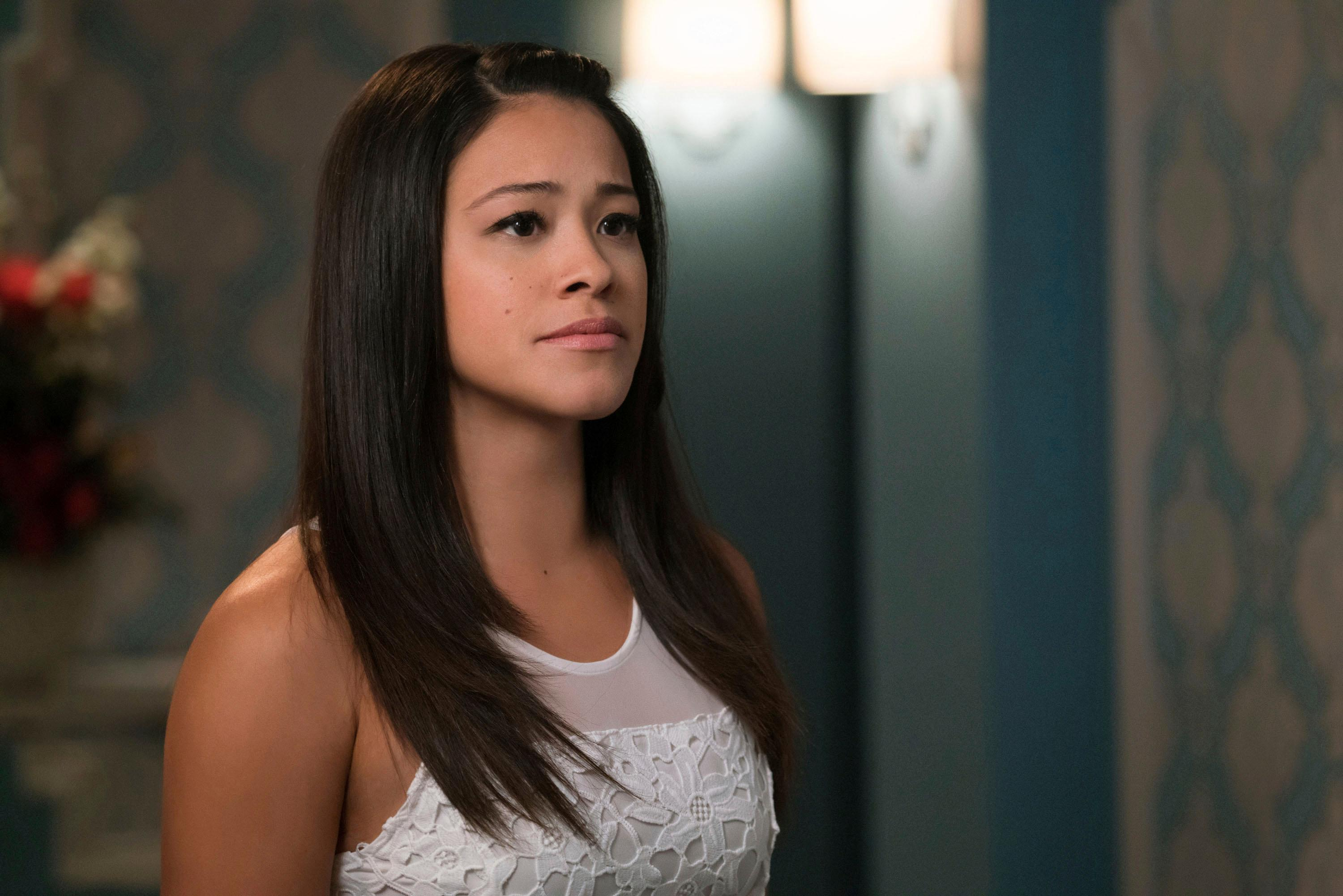 "In this image released by The CW, Gina Rodriguez appears in a scene from, ""Jane The Virgin."" Fans and Latino diversity advocates are lamenting the end of two well-known Latino-themed television shows, Netflix's ""One Day at a Time"" and CW's ""Jane the Virgin."" But other shows featuring U.S. Latino characters are trying to step in and capture the attention of fragmented audiences looking for diversity. (Michael Desmond/The CW via AP)"