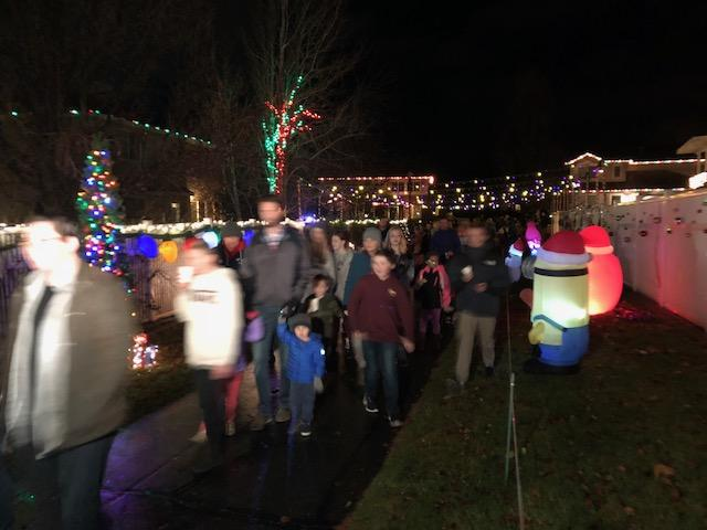 Neighborhood light display honors toddler who died of cancer (Photo: Cristina Flores / KUTV)