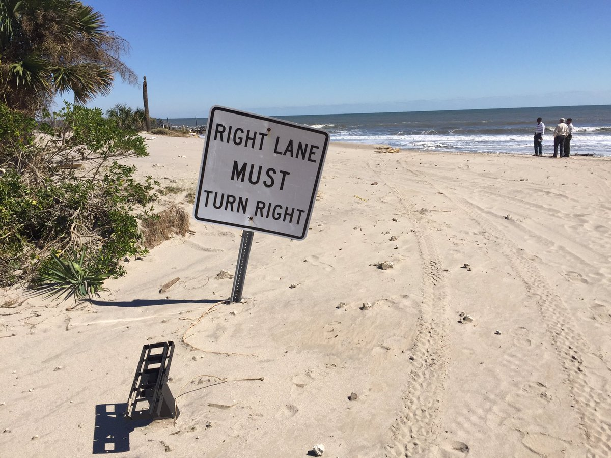 The shoreline of Edisto Beach has moved inland because of Hurricane Matthew. (Bill Burr/WCIV)