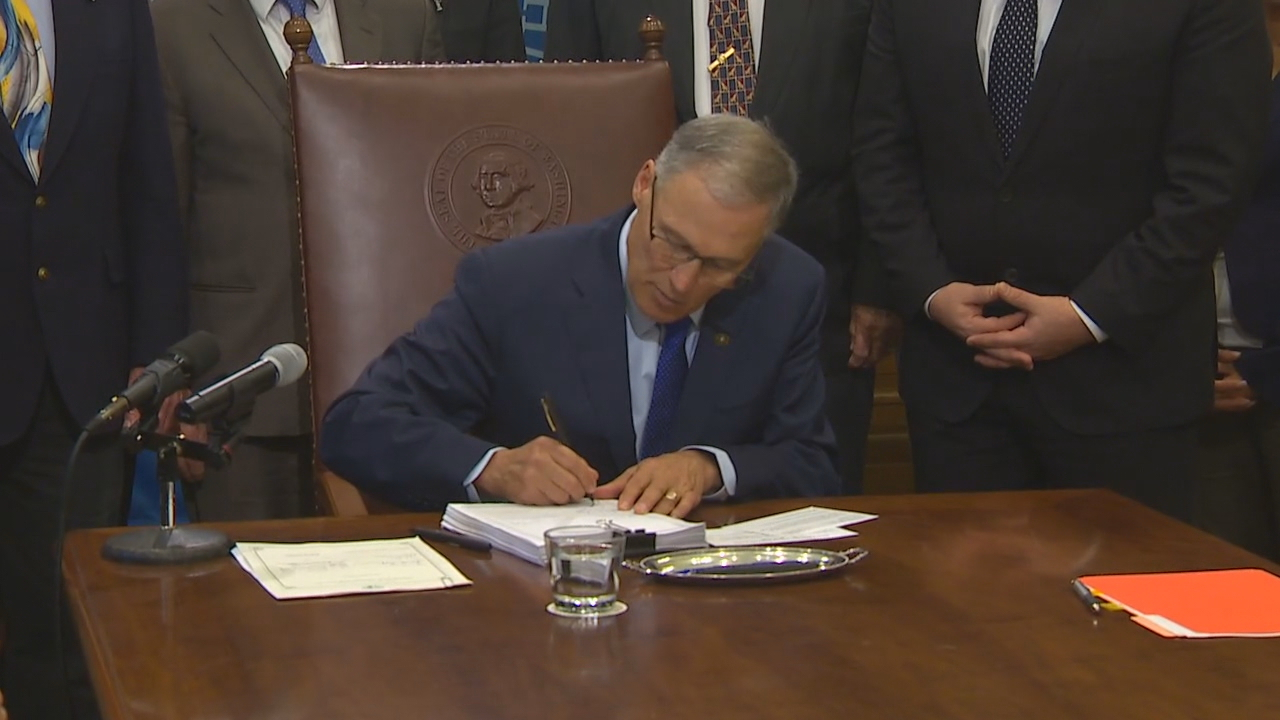The $4.2 -billion state construction budget was signed into law by Gov. Jay Inslee on Friday (KOMO News)