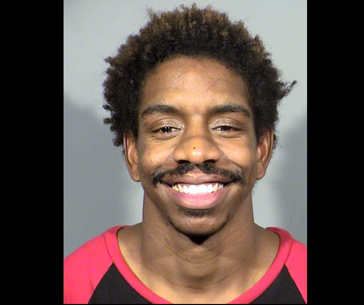 Calvin Franklin faces an murder charge in the Nov. 29, 2017, shooting death of Ryan Flowers. The shooting occurred at 2:20 a.m. in front of the Four Queens Casino on Fremont Street in downtown Las Vegas. (LVMPD photo)<p></p>
