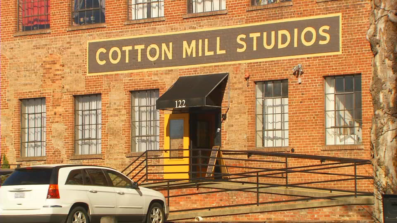 Owners of Cotton Mill Studios in the River Arts District have decided to sell the building. (Photo credit: WLOS staff)