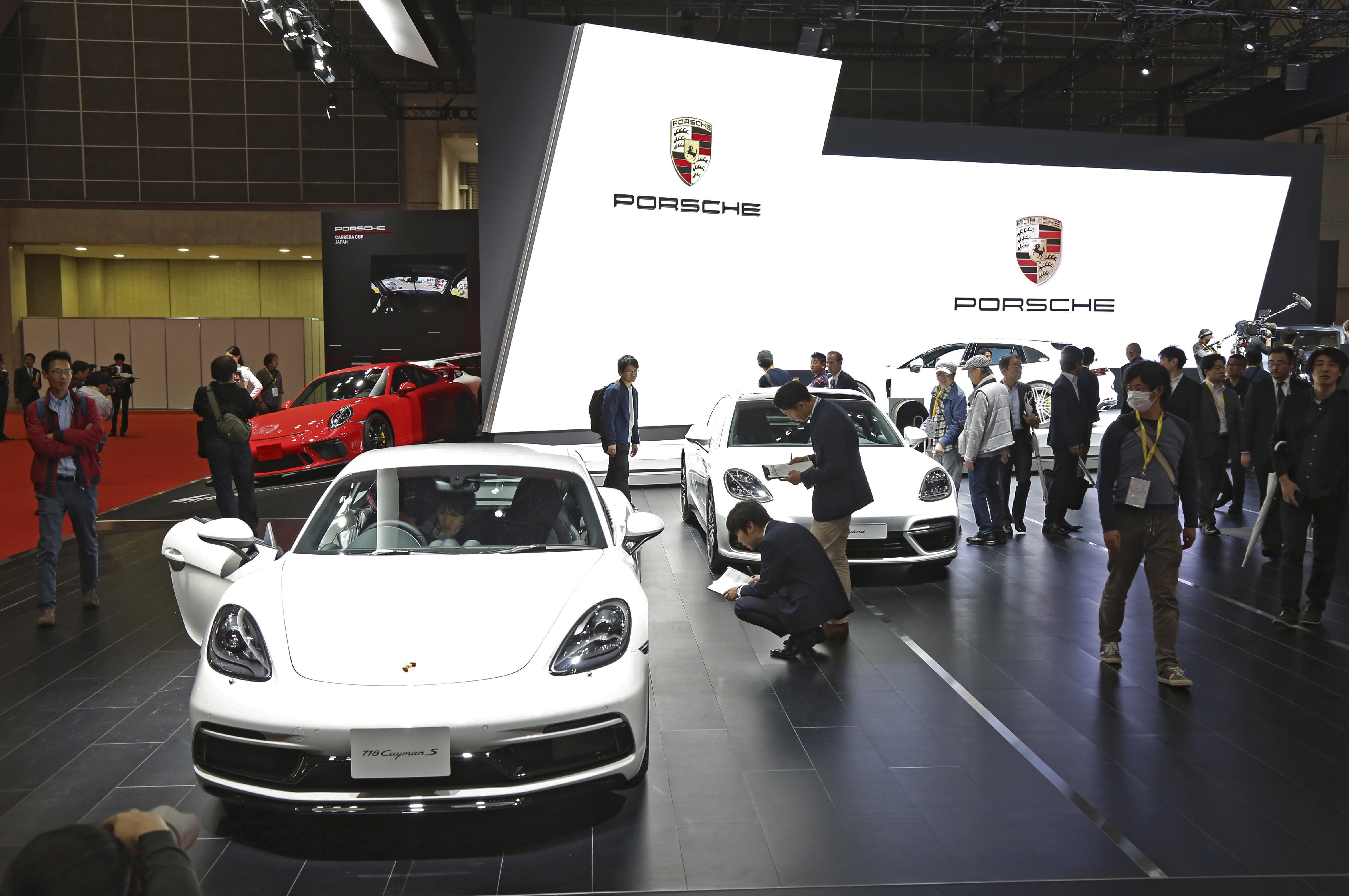 Tokyo Motor Show 2017  Featuring: Porsche Where: Tokyo, Japan When: 25 Oct 2017 Credit: Yukio Tomita/Future Image/WENN.com  **Not available for publication in Germany**